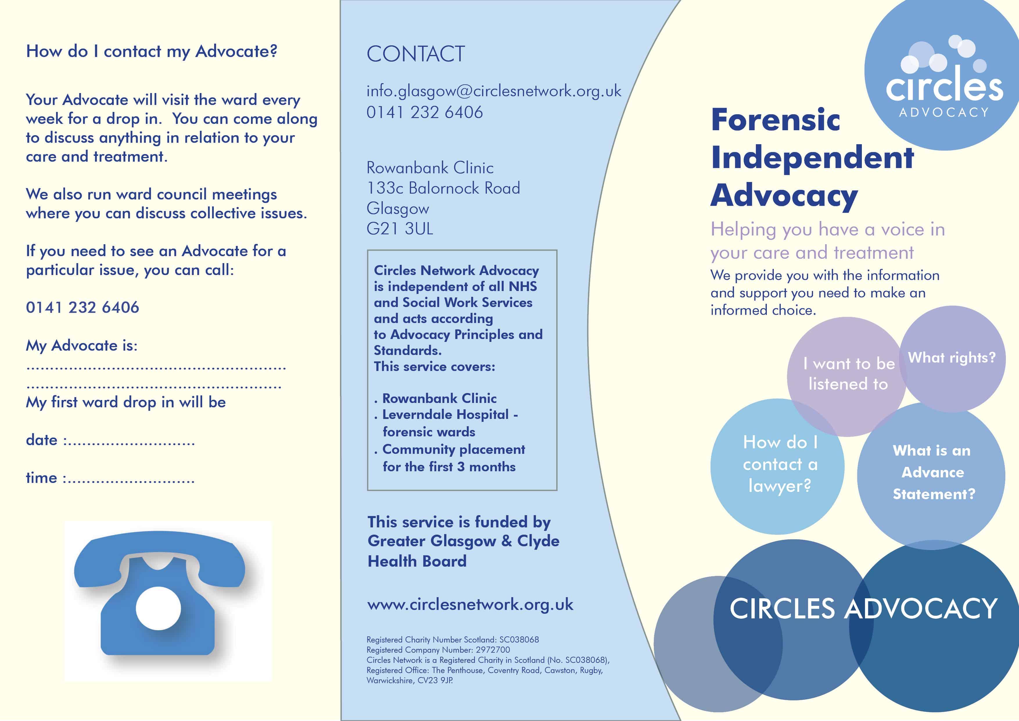 Advocacy Glasgow leaflet b