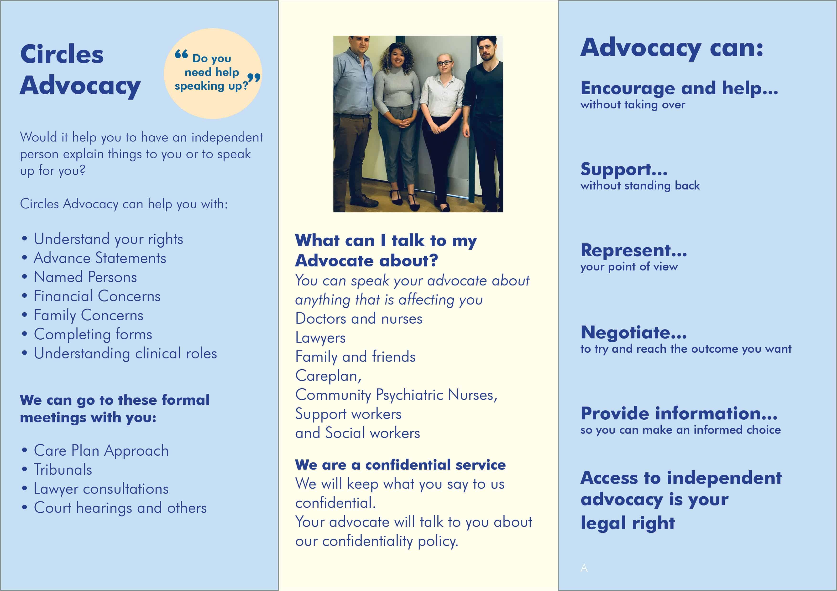 Advocacy Glasgow leaflet