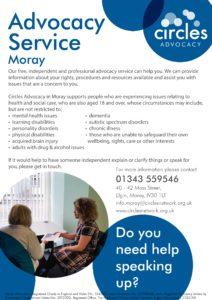 Advocacy Moray leaflet