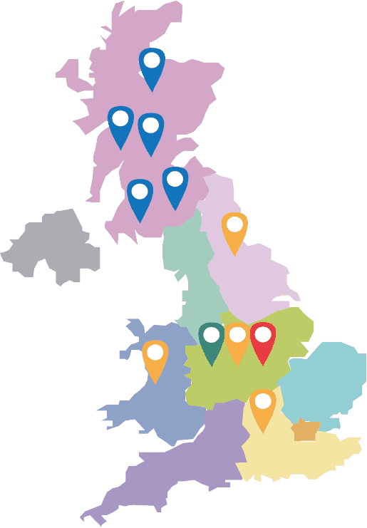 Map of Circles Network locations