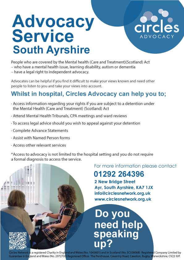 South Ayrshire advocacy poster
